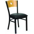 Bullseye Wood Back Dining Chair