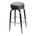Button Top Bar Stool with Black Bucket Frame SL2135