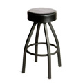 Button Top Bar Stool with Black Powder Coat Frame SL2132