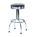 Button Top Bar Stool with Chrome Frame and Quad Base 3536