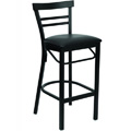Cafe Ladder Back Metal Bar Stool