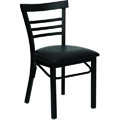 Cafe Ladder Back Metal Dining Chair