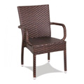 Cape Rattan Stacking Arm Chair