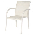 Chalet Stacking Bistro Chair with Woven Arms E990
