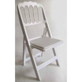 Chateau Resin Folding and Stacking Chair - White