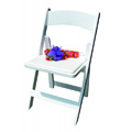 Chip Recycled Folding and Stacking Chair - Aqua