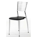 Chrome and Silver Frame Ladder Back Dining Chair M7740