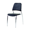 Chrome Frame Dining Chair with Black Vinyl Seat and Back M7755