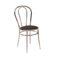Chrome Frame Dining Chair with Black Vinyl Seat M7700
