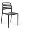 Costa Bistrot Stacking Restaurant Side Chair in Anthracite