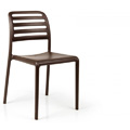 Costa Bistrot Stacking Restaurant Side Chair in Caffe
