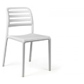 Costa Bistrot Stacking Restaurant Side Chair in White
