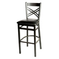 Cross Back Metal Bar Stool SL2130-1
