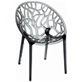 Crystal Stacking Restaurant Side Chair in Gray
