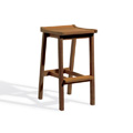 Dartmoor Backless Bar Stool - Brown Umber
