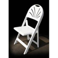 Fan Resin Folding and Stacking Chair - White