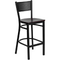 Grid Back Metal Bar Stool