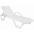 Havana Resin Stacking Sunlounger - White