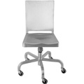 Hudson Aluminum Swivel Chair with Casters