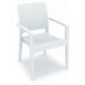Ibiza Stacking Restaurant Arm Chair in White