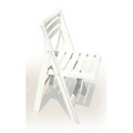 Ispra Folding and Stacking Chair - White