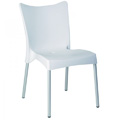 Juliette Stacking Restaurant Side Chair in White