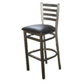 Ladder Back Metal Bar Stool - Silvervein SL 2301-SV