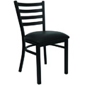 Ladder Back Metal Dining Chair