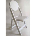 Louis Resin Folding and Stacking Chair - White