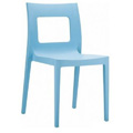 Lucca Stacking Restaurant Side Chair in Light Blue