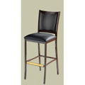 Luckhardt Bar Stool with Upholstered Seat and Back 813-UB