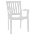 Malibu Stacking Resin Arm Chair - White