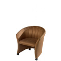 Marquis Channel Back Lounge Chair with Casters 810-C-CHI