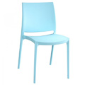 Maya Stacking Restaurant Side Chair in Light Blue