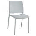 Maya Stacking Restaurant Side Chair in Silver Grey