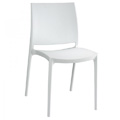 Maya Stacking Restaurant Side Chair in White