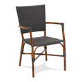 Nantucket Rattan Stacking Arm Chair