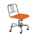 Nine-0 Aluminum Stacking 3-Bar Back Swivel Chair with Casters