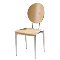 Cafe Flex Oval Side Chair with Wood Seat and Back