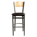 Plain Wood Back Bar Stool SL2150-1-P