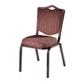 Como Crown Back Aluminum Stacking Side Chair with Handgrip