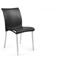 Regina Stacking Restaurant Side Chair in Anthracite
