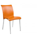 Regina Stacking Restaurant Side Chair in Orange