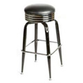 Retro Bar Stool with Black Bucket Frame - Black SL2138-BLK