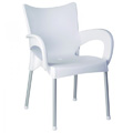 Romeo Stacking Restaurant Arm Chair in White