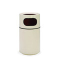 Round Fiberglass Trash Can with Ash Urn & Fiberglass Liner