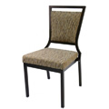 Salon High Back Aluminum Nesting Side Chair with Handgrip Bar