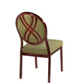 Salon Oval Picture Back Aluminum Nesting Side Chair with Hourglass Design