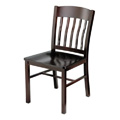 Side Chair with Steel Frame and Wood Seat 981