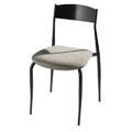 Side Chair with Upholsted Seat and Metal Back 187